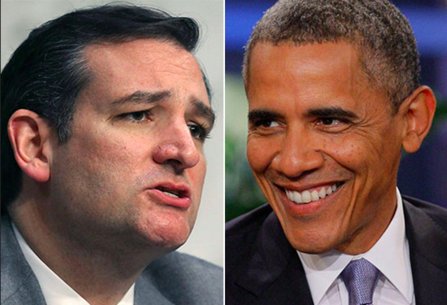 Image result for obama and cruz