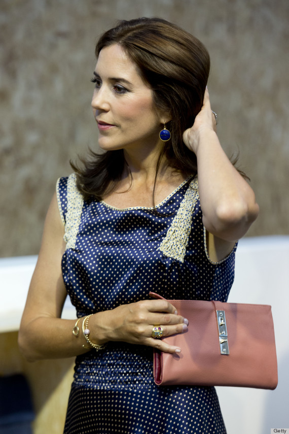 Princess Mary Sniffs Beauty Products Checks Out Clothes