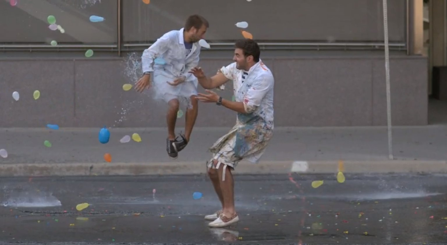 Slow motion water balloon fight is the definition of epic video huffpost