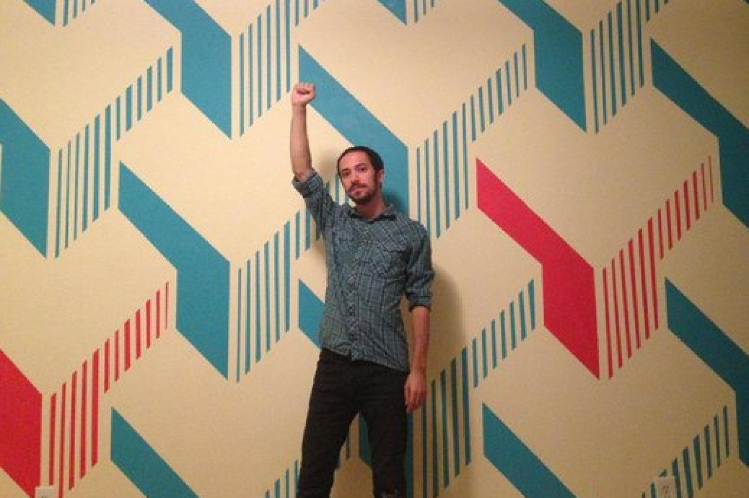 DIY Painted Wall Design Is Way Cooler Than Any Wallpaper Youll