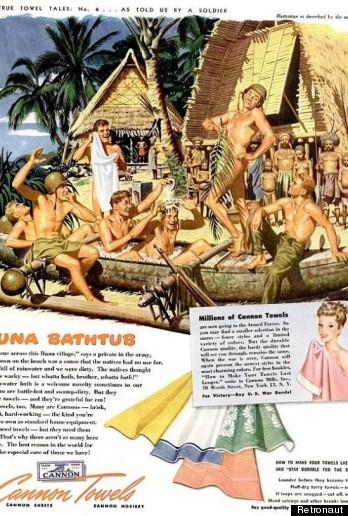 nude men towel ad