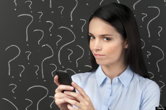 woman texting sad