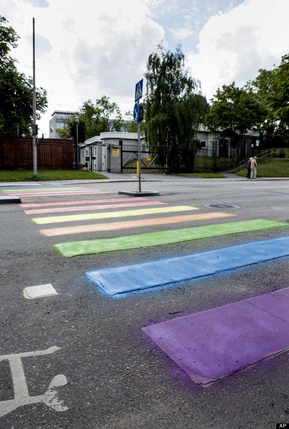 zebra crossing russian embassy