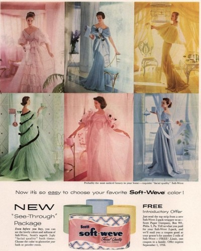 Colored Toilet Paper Matched Dresses In The 1950s Now Kris Jenner