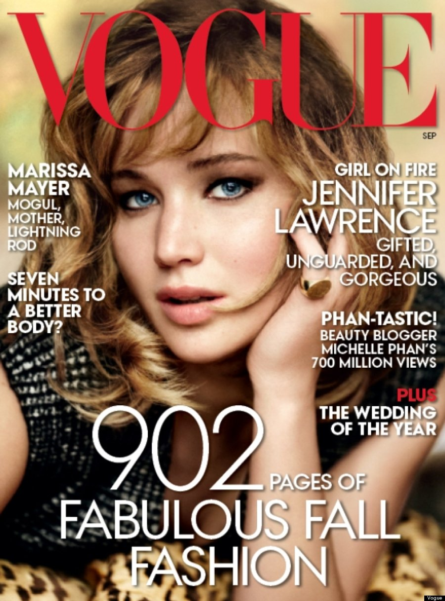 vogue jennifer lawrence september magazine covers issue jlaw leaks close pages sept ad usa shoot vogues famous