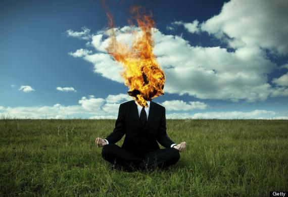meditating fire