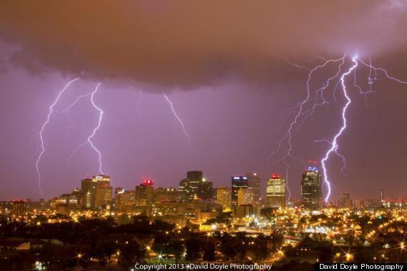 edmonton lightning storm