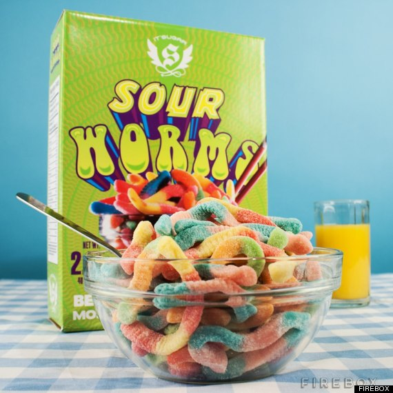 sour worms cereal