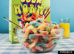 Un-Balanced Breakfast: Sour Gummy Worms Cereal