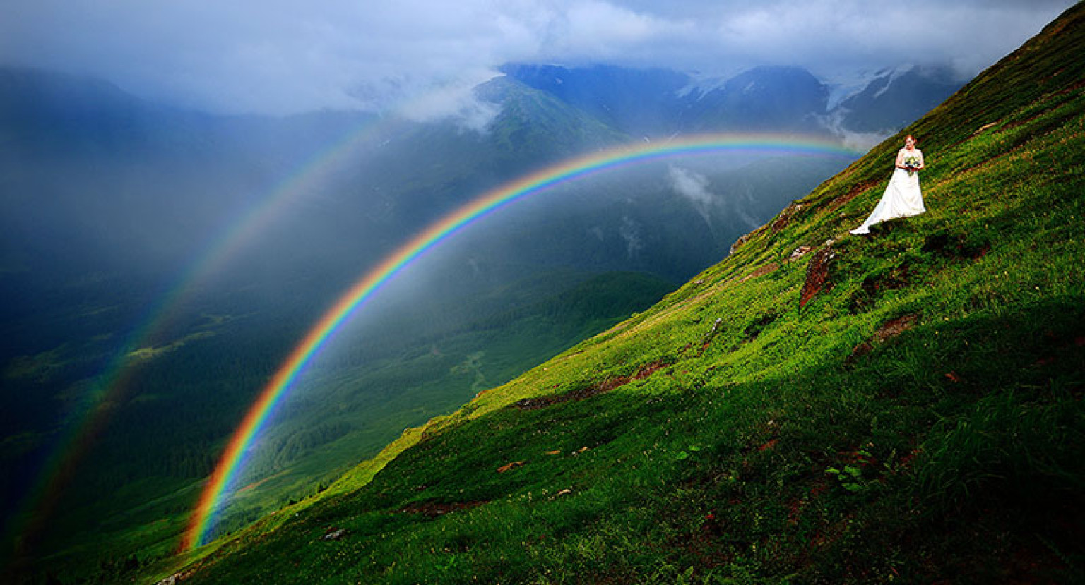 Double Rainbow Wallpaper by Peeewax on DeviantArt  |Double Rainbow Wallpaper