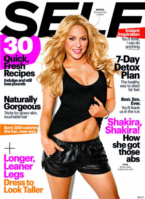 Shakira luce su cuerpo post parto en la portada de la revista SELF ...