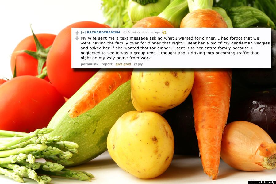 man veggies