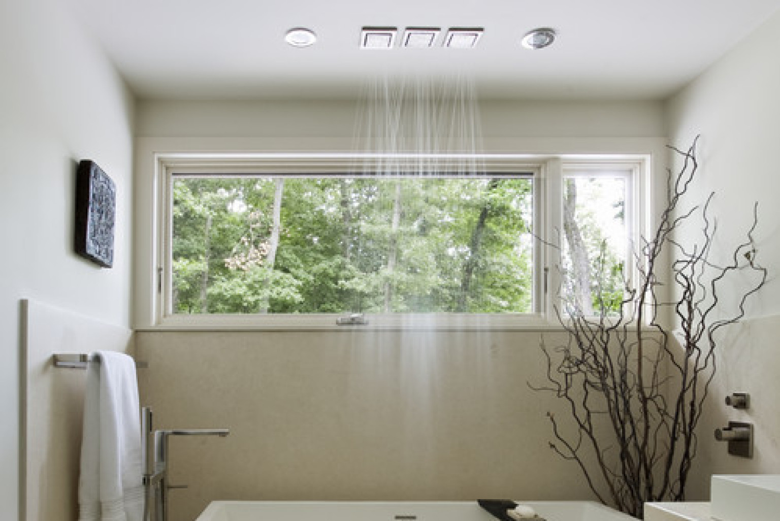 12 luxury showers that will never make you want to leave for Shower over bath ideas