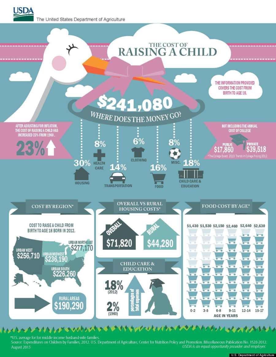 infographic cost of raising child