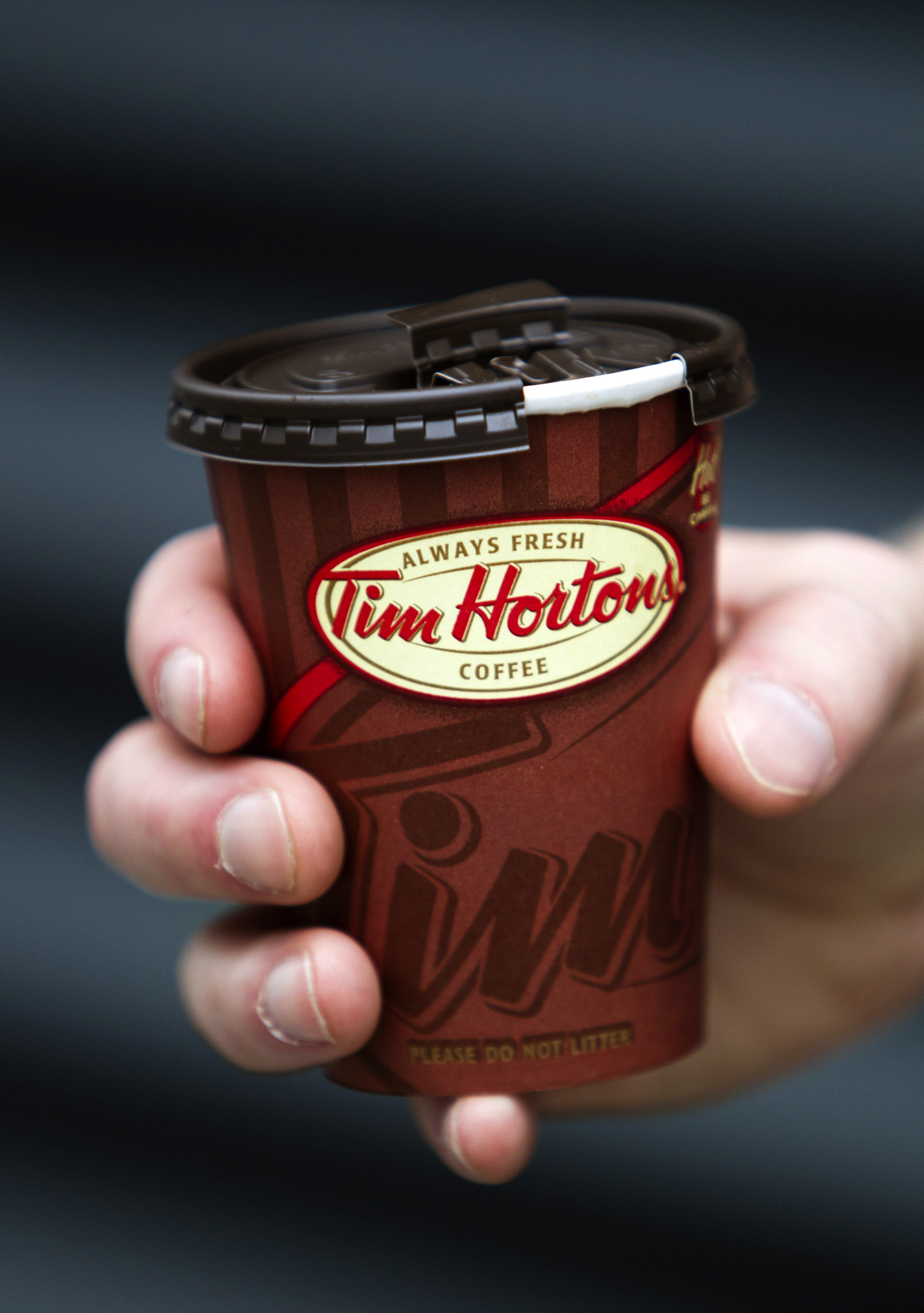 Tim Hortons Lids Letter Voices A Nation S Pain Photo