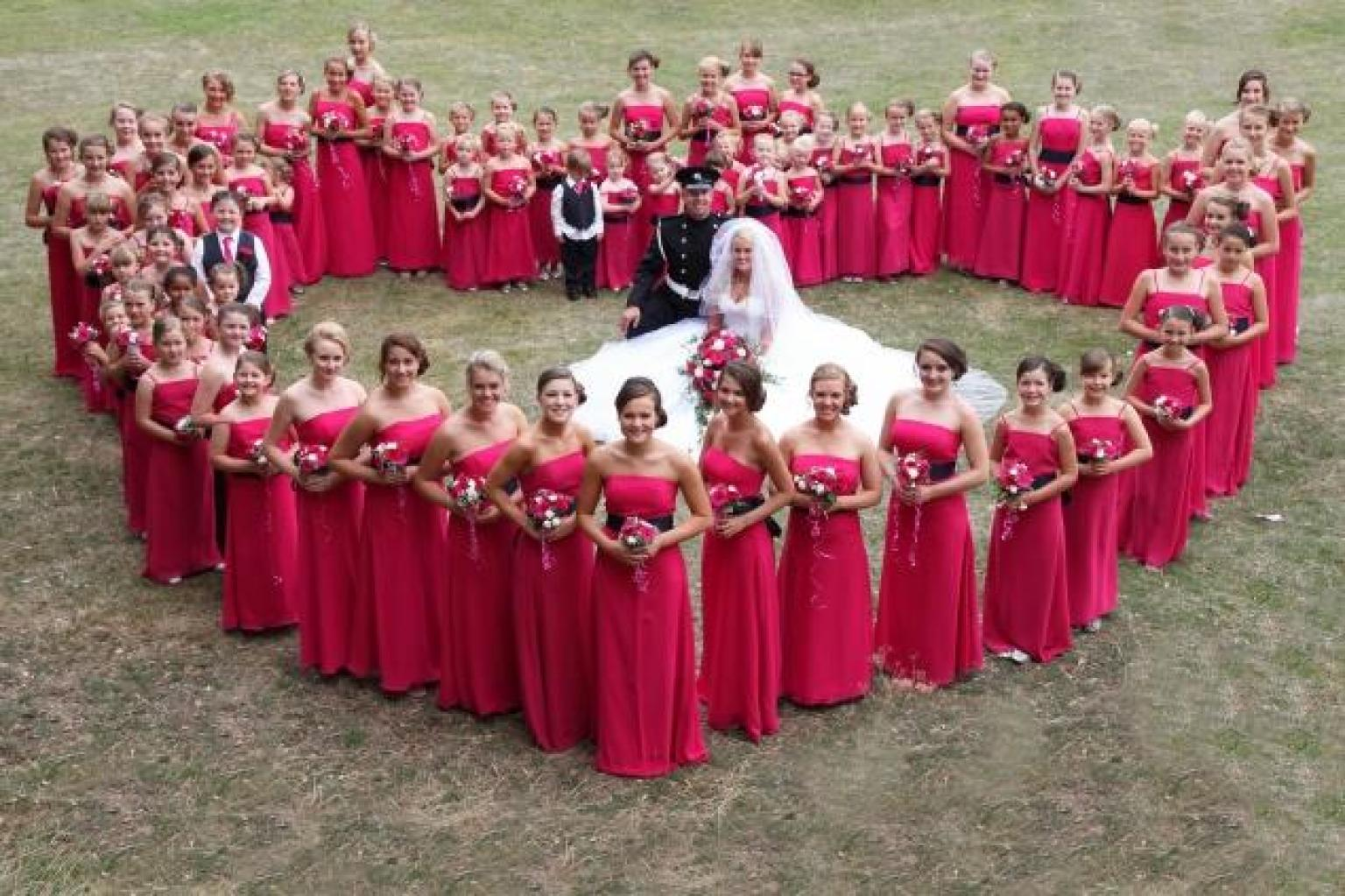 Bride Selects 80 Bridesmaids For Wedding Day!
