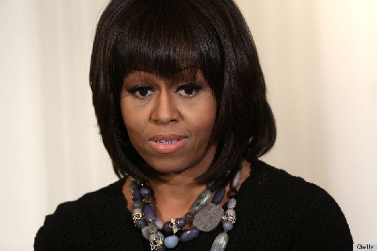 michelle obama on ditching her bangs: 'it's hard to make speeches