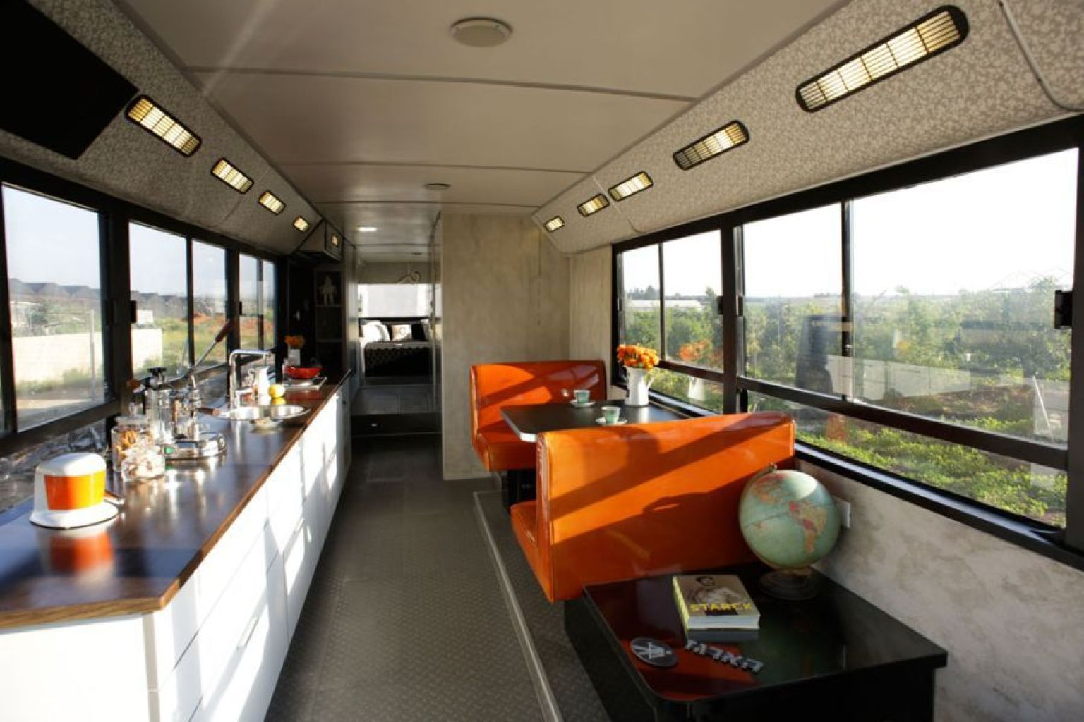 Bus converted into a home in sharon israel will totally for Mobile living