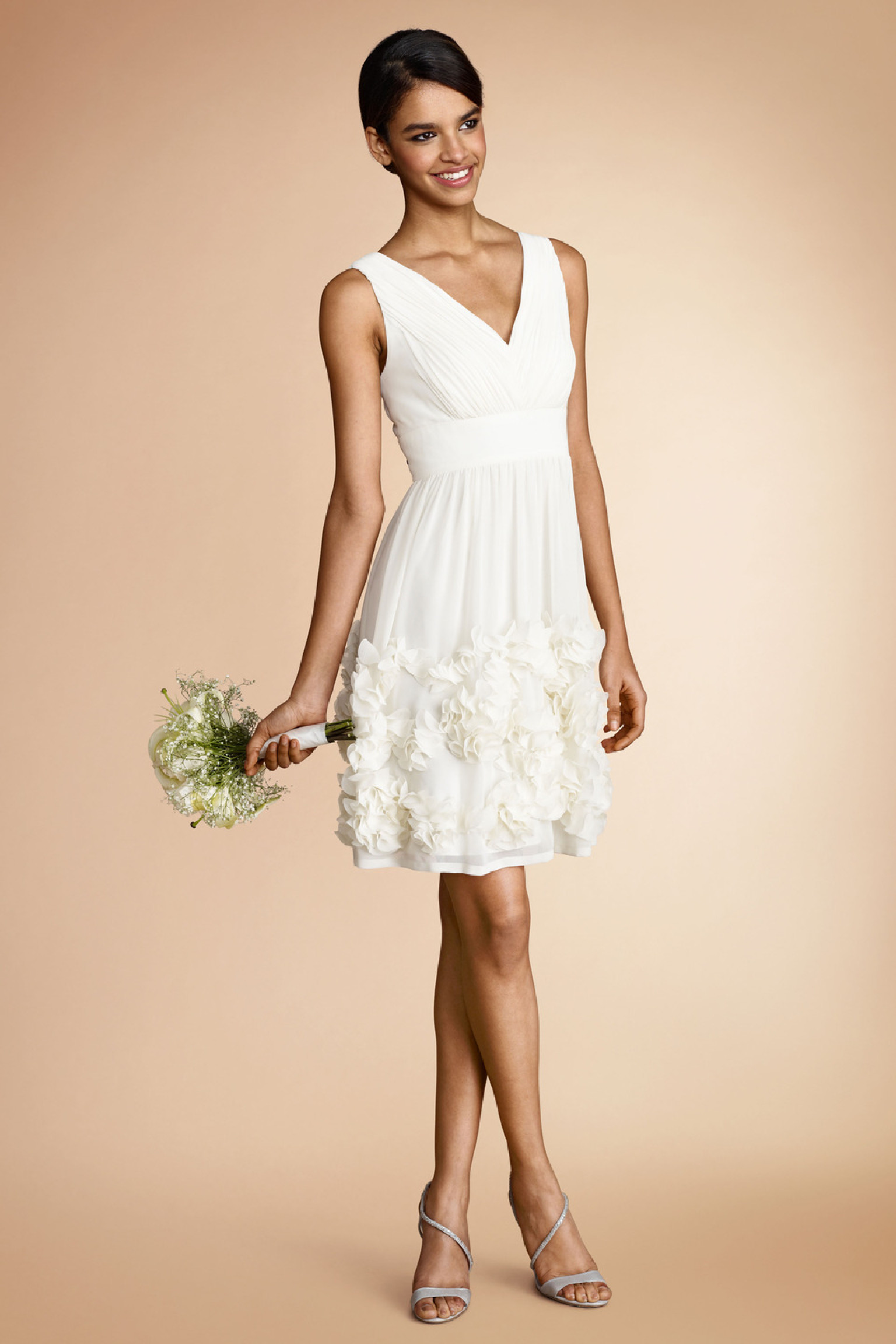 Little white dresses for every wedding event for Short white summer wedding dresses