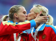 Female Russian Athletes Kiss After Winning Gold In Possible Protest Of Anti-Gay Law