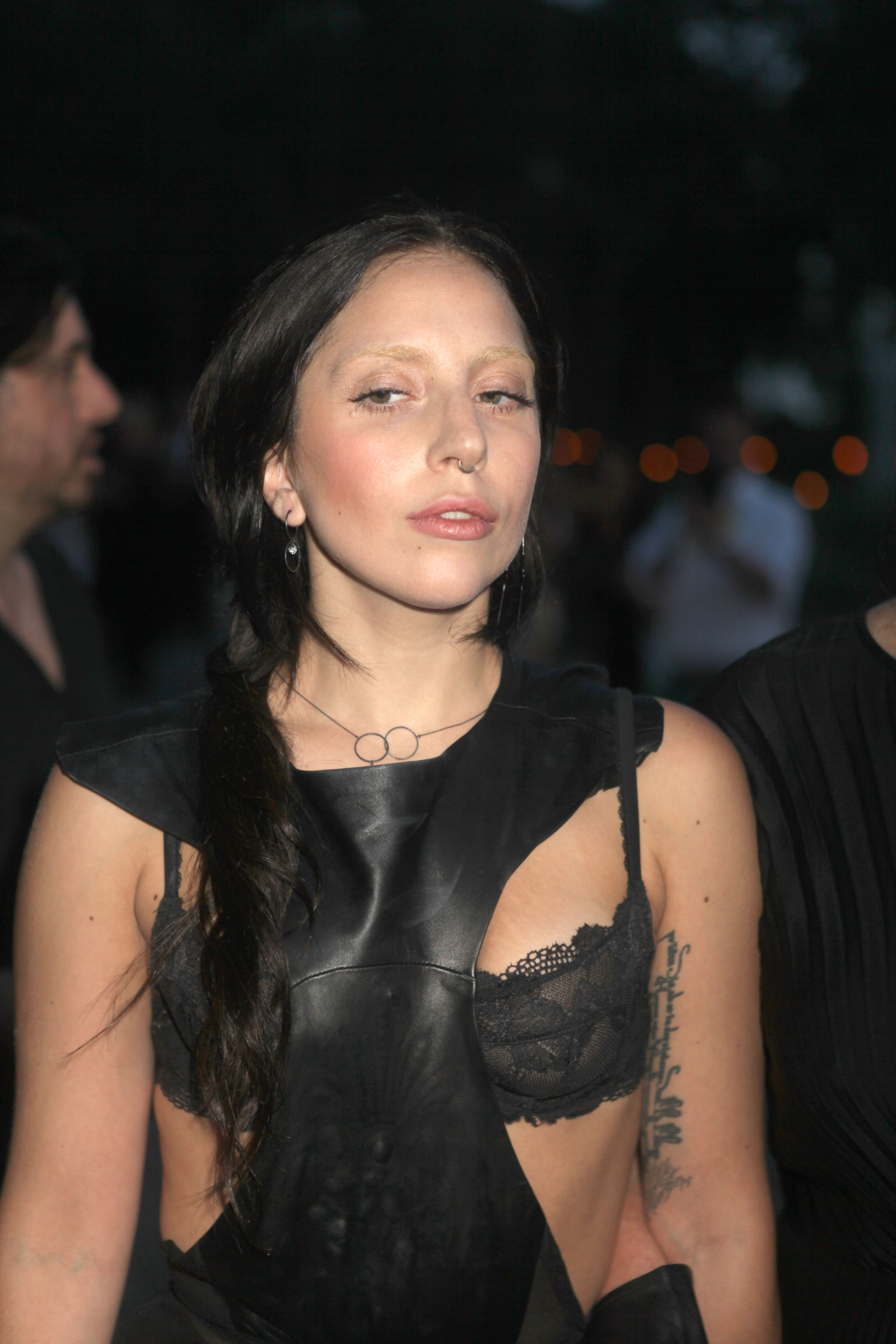 gaga lady brunette nose hair face ring benefit devils heaven outfits weirdest gala mydesignweek eu dark gagas politician york looks