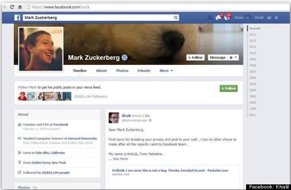 One of zuckerberg s college friends and on zuckerberg s page itself
