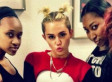 Miley Cyrus Rocks Pigtails, Crop Top And Short Shorts All In One Photo
