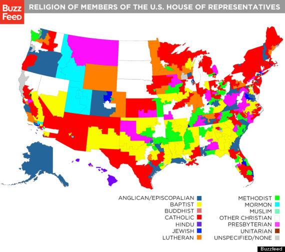 Religion Map Of Congress Members Shows The Diversity Of Faith In