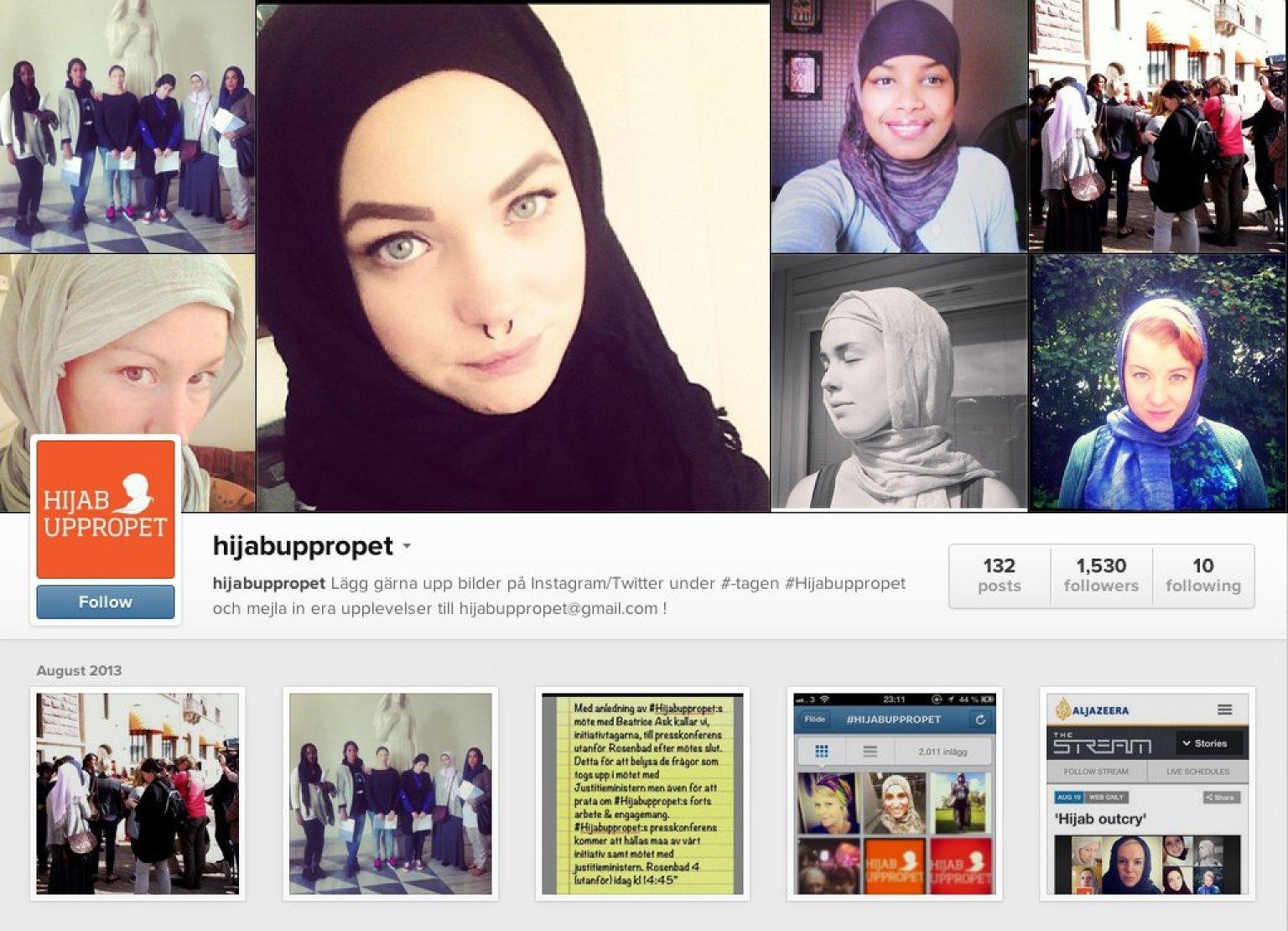 image Old muslim women against exhibitionism