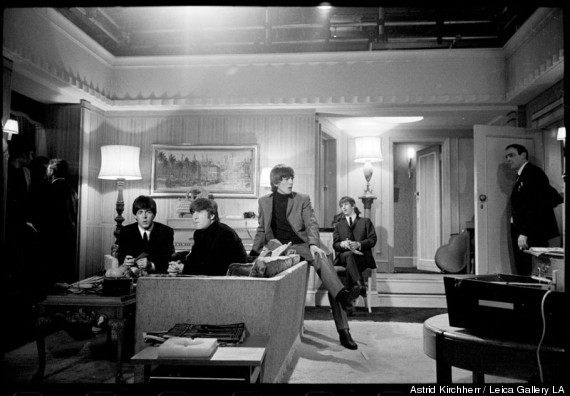 beatles on set