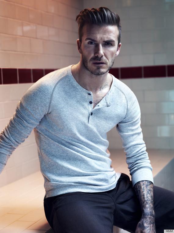 david beckham modeling