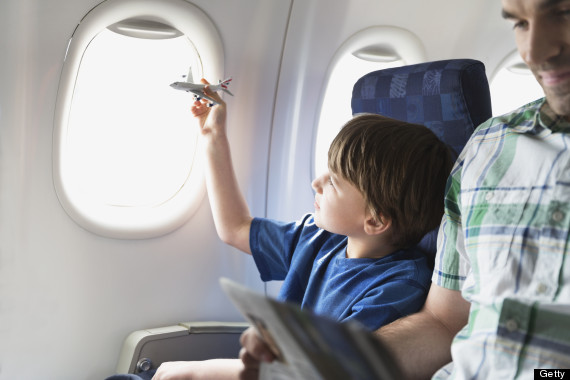 children on planes