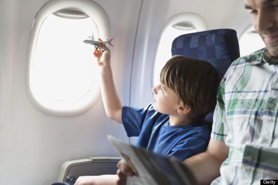 children on planes