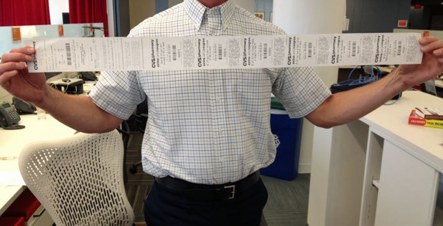 evidence that cvs receipts are getting way too long