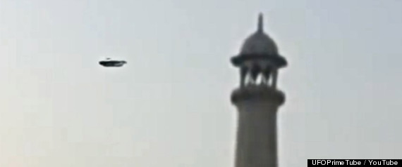 ufo over taj mahal