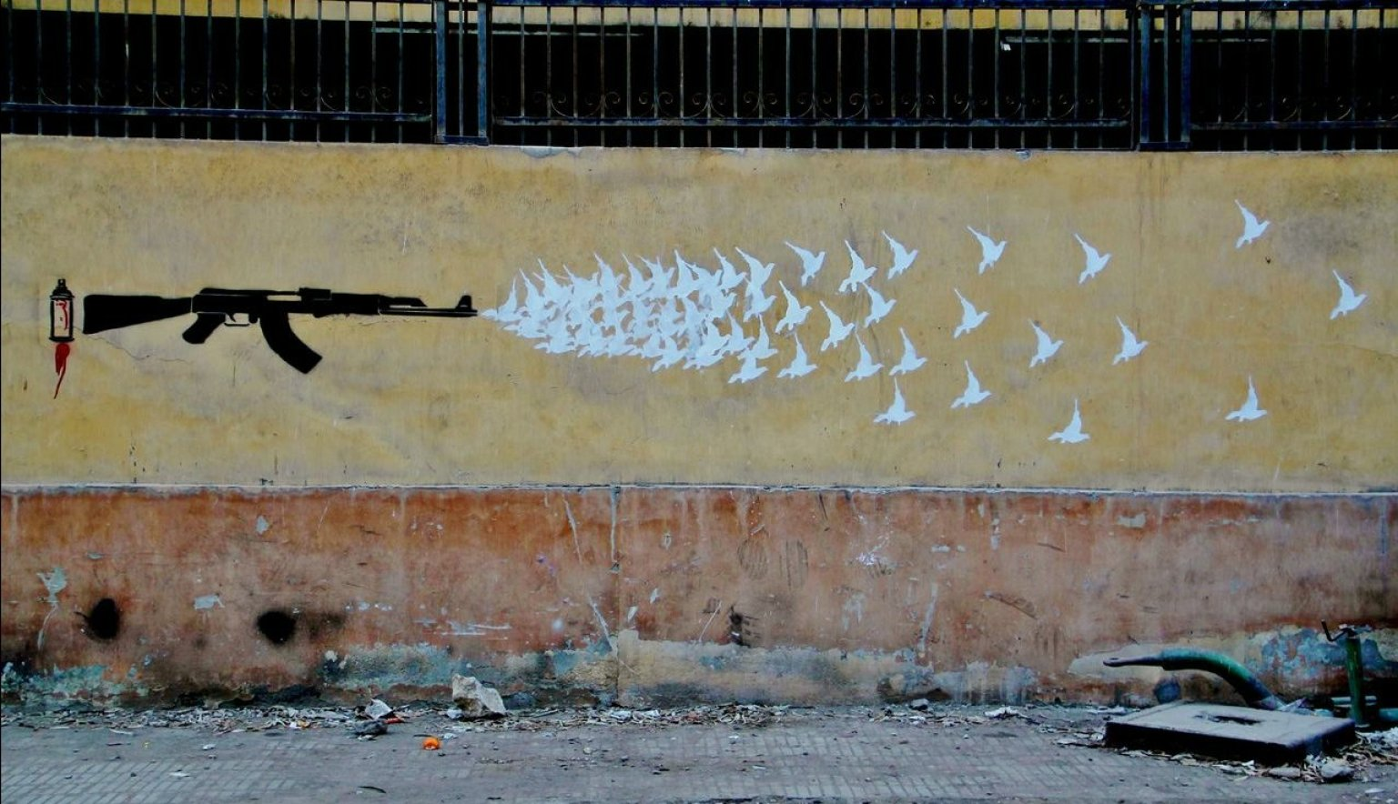 Arte callejero en egipto los 39 muros de libertad 39 en for Graffitis y murales callejeros