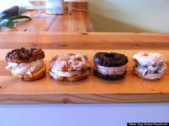 gelato doughnut sandwiches