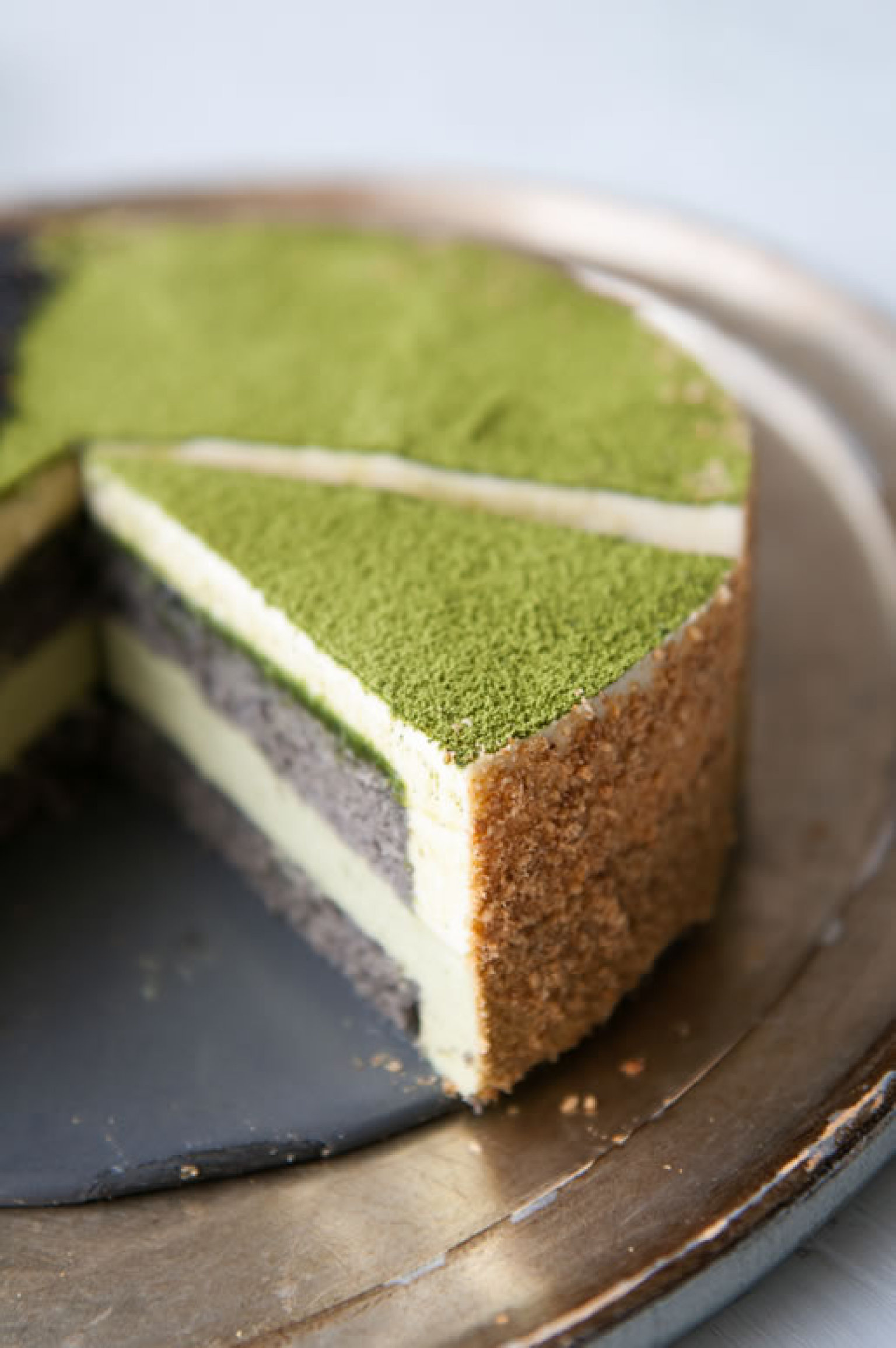 to us matcha goma mousse cake green tea black sesame. Black Bedroom Furniture Sets. Home Design Ideas