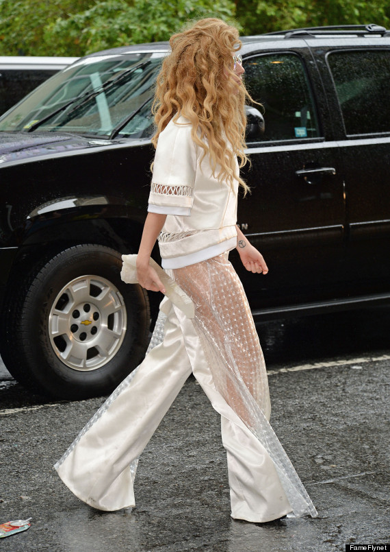 lady gaga see through pants