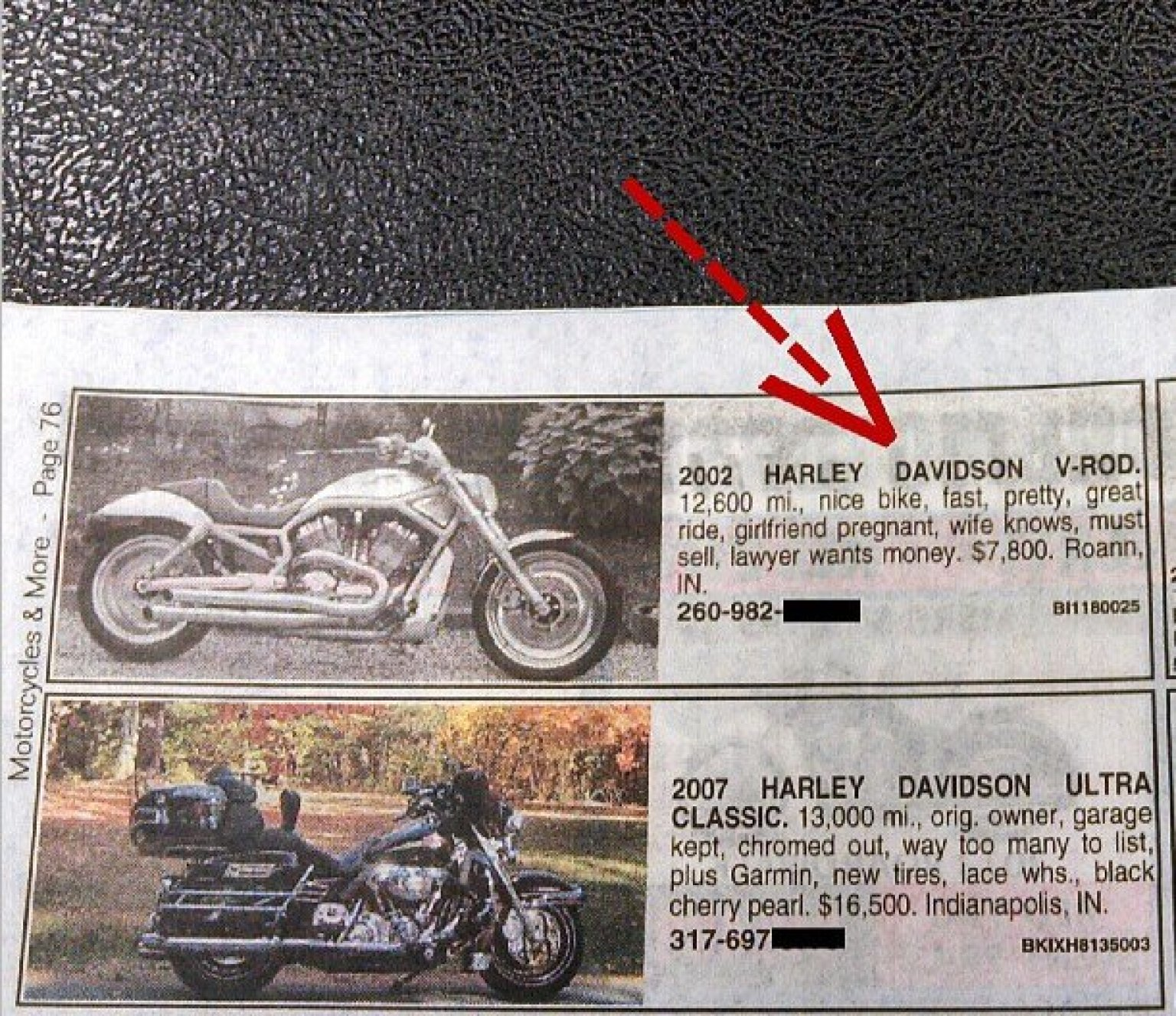 Funny Divorce Ad Biker Needs To Sell His Harley Fast