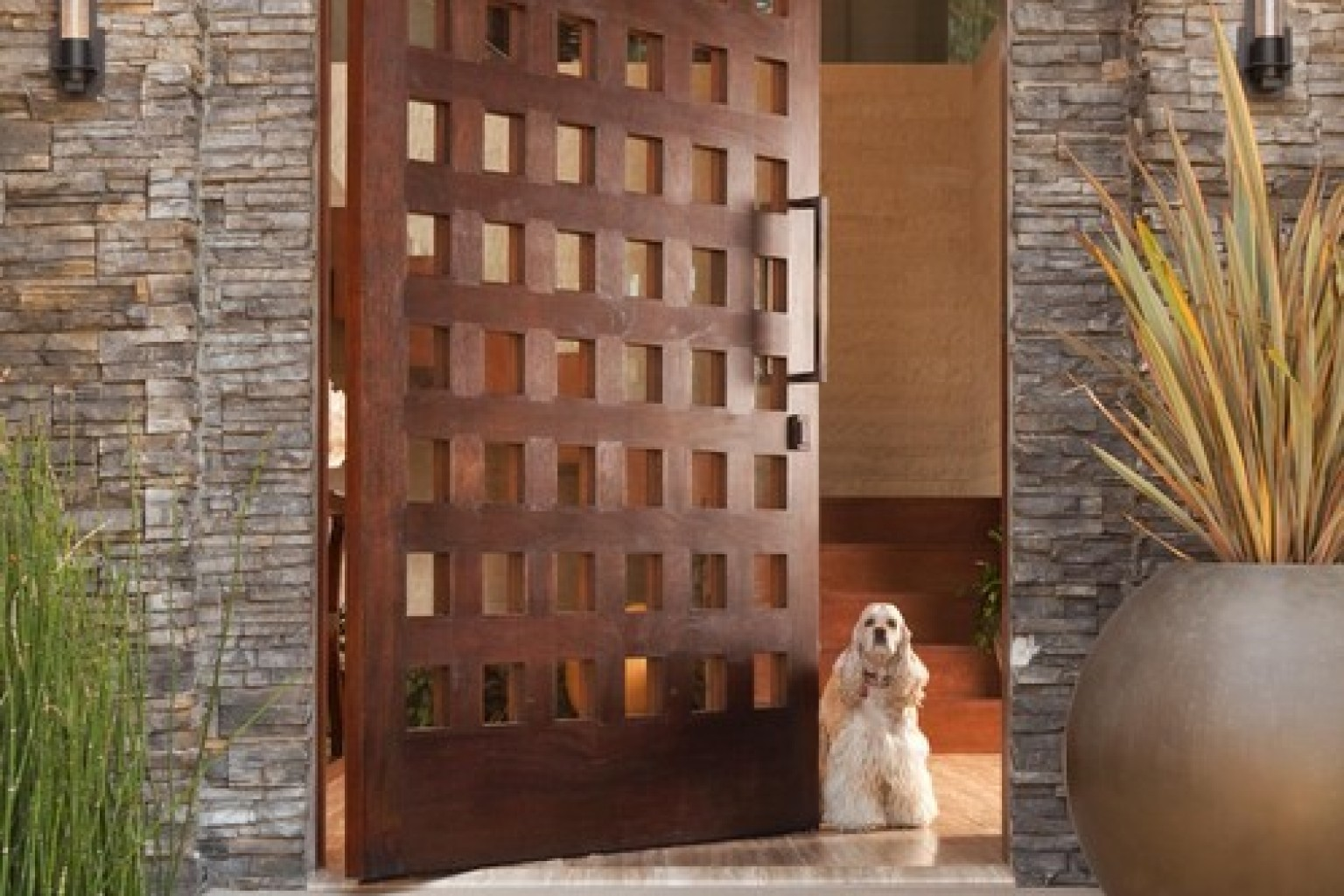 12 seriously cool front door designs that will boost your for Entry door designs for home