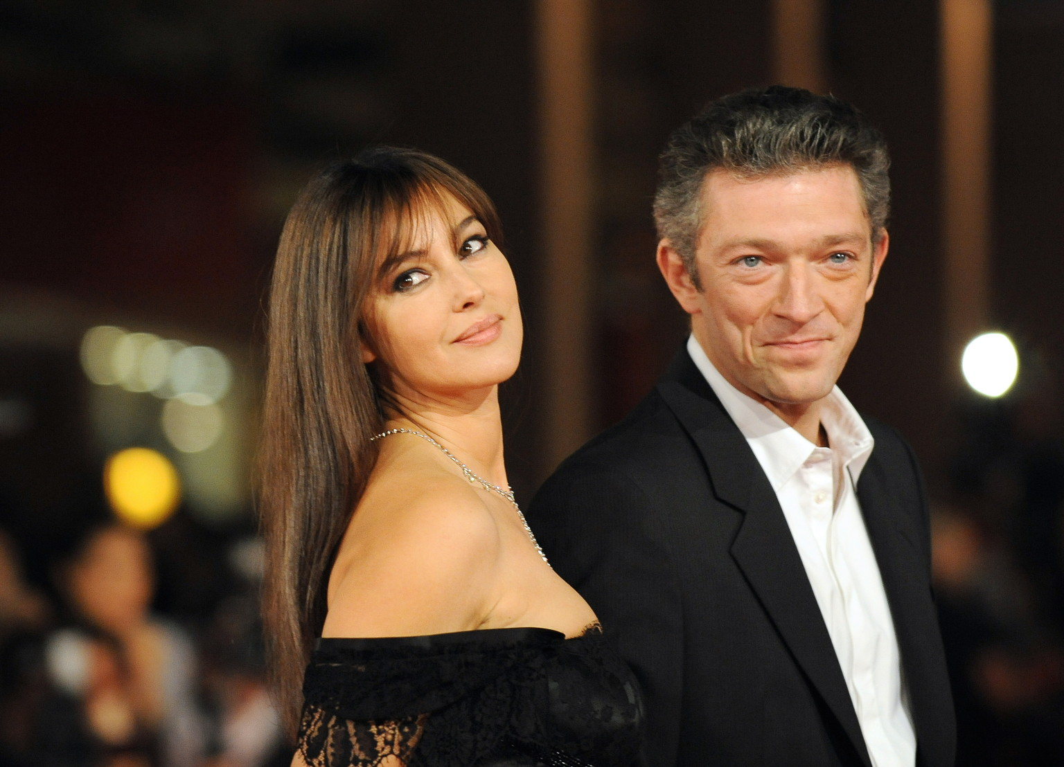Family photo of the actor, married to Monica Bellucci, famous for Ocean