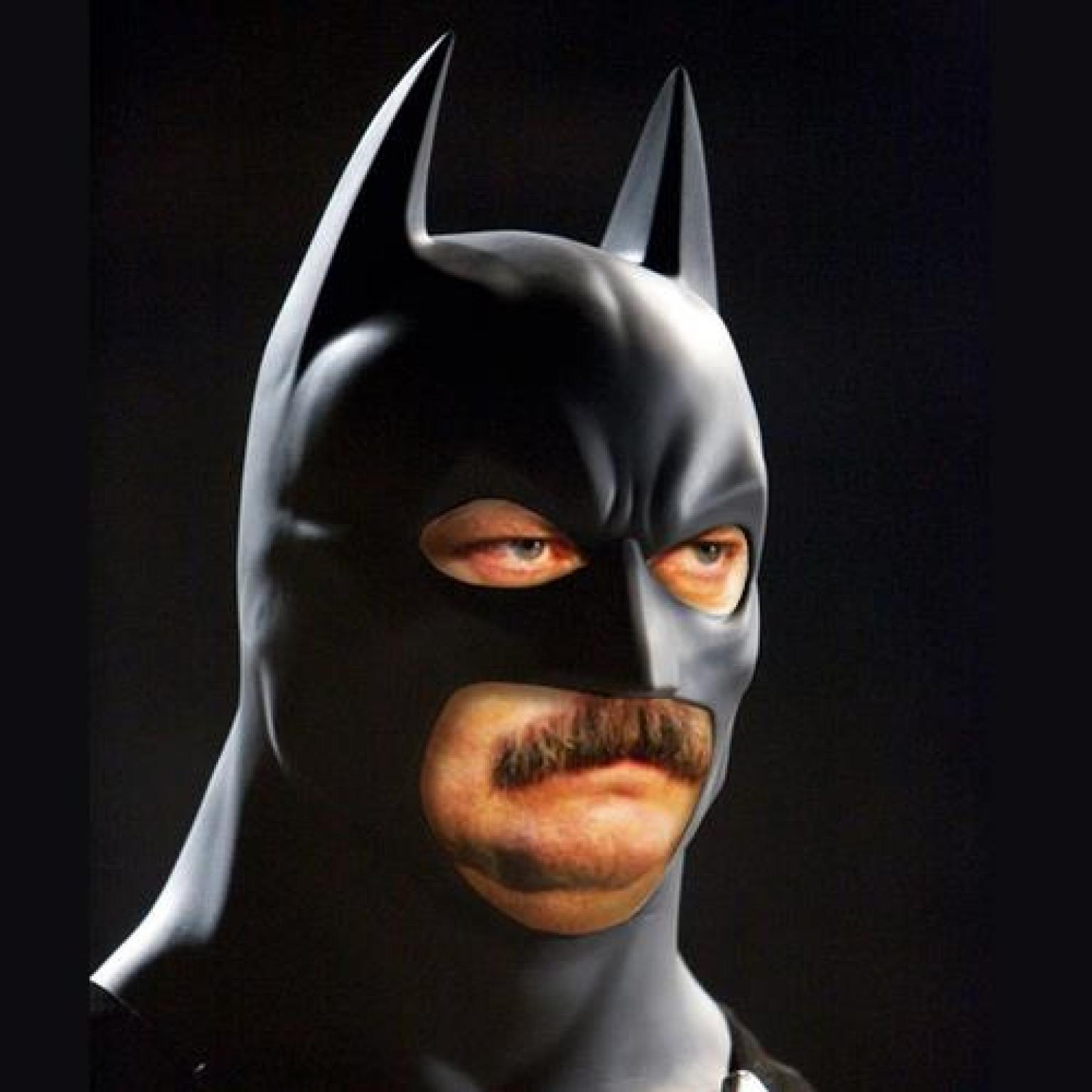 batman swanson ron funny meme face bat 500 cool