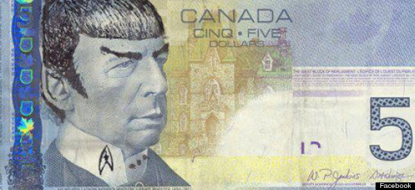 Canadians Are 'Spocking' Their Fivers And It's Totally Legal