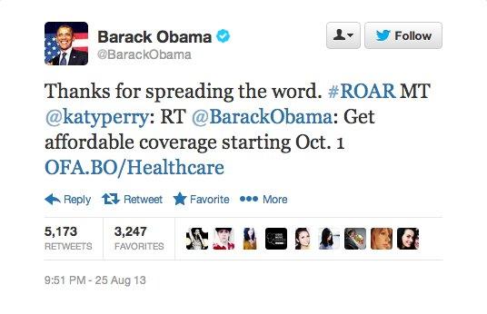 obama katy perry tweet