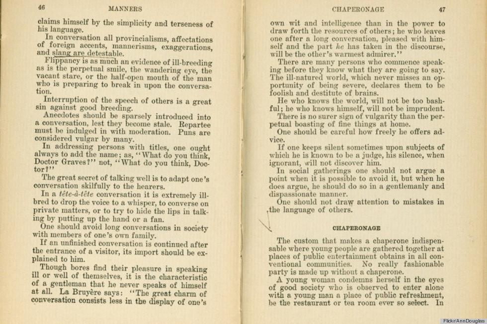 1918 etiquette guide