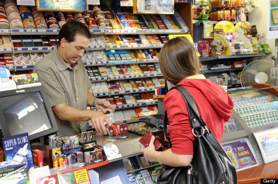 teenager buying tobacco