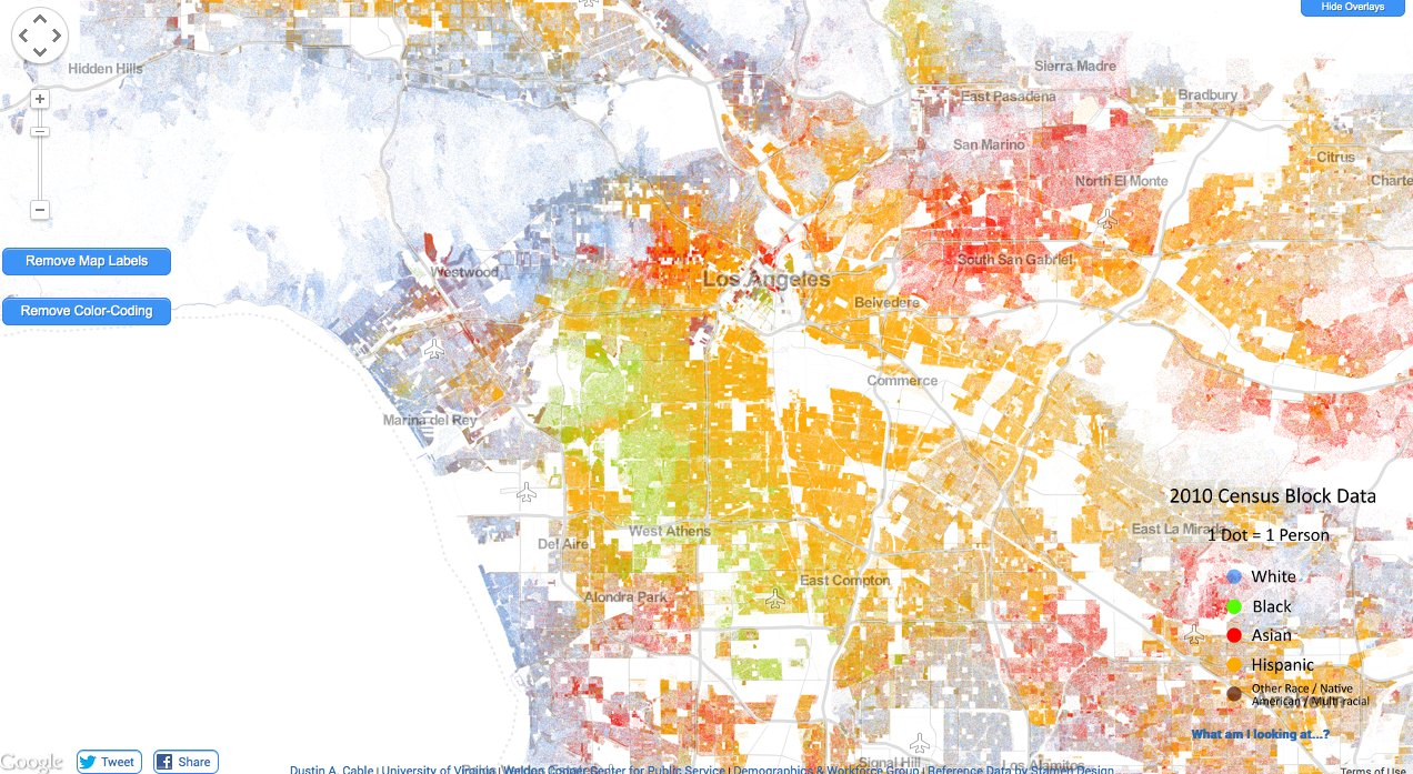 Racial Segregation In The US Maps Of RacialEthnic Populations In - Detailed map of us