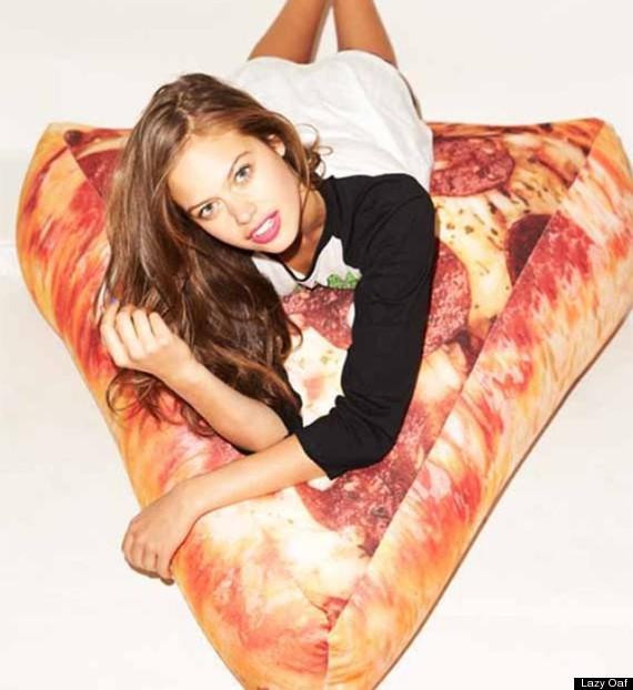 pizza bean bag