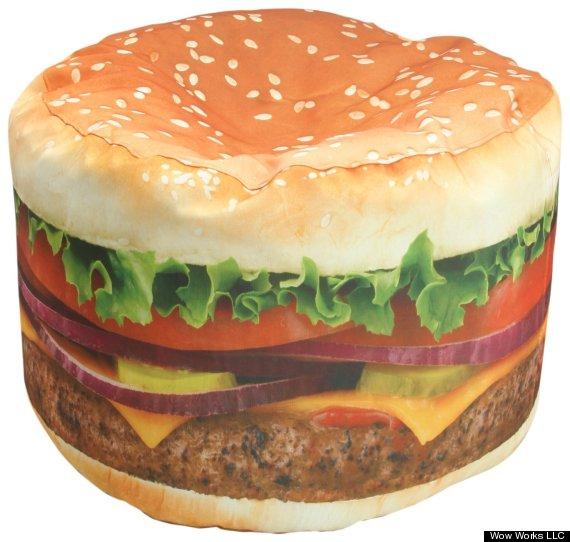 cheeseburger bean bag